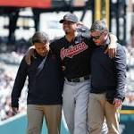 Indians overcome Carrasco injury, sweep Tigers