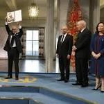 PICS: Nobel laureates receive prizes