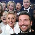 Bradley Cooper owns the right to the most famous selfie in history... because he ...