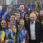Putin: Gay people will be safe at Olympics if they 'leave kids alone'