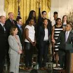 President Obama Hosts WNBA Champion Minnesota Lynx At The White House
