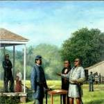 Surrender at Appomattox marks beginning of end