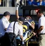Cal's Trevor Davis taken off field on stretcher