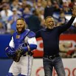 Touching moment for Jays' Russell Martin
