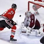 Patrick Kane streak ends as Varlamov shuts out Hawks