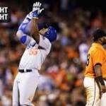 Yasiel Puig's three triples highlight Dodgers' record night against Giants