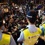 Hong Kong police, activists clash in protest zone