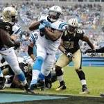 Panthers score late to beat Saints; Cowboys' win sets up Eagles showdown