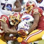 Redskins list five players as questionable ahead of Saturday's game against Eagles