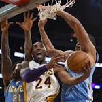 Kobe Bryant and Lakers miss-behave in overtime loss to Denver Nuggets