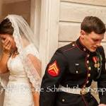 Photo Of Marine And Bride In Prayer Before Their Wedding Goes Viral