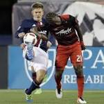 Revolution ties with Timber 1-1 on late own goal