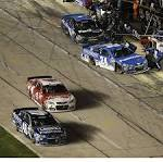 Only shove by Harvick this time at Texas comes on the track