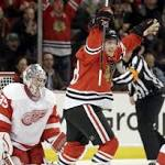 NHL: Marian Hossa scores and has two assists for Chicago Blackhawks