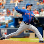 Harvey flirts with no-hitter, K's career-high 13