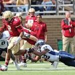 Boston College beats Maine 40-10