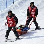 Snowboard cross racers stretchered off after crashes