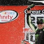 NASCAR: Busch is winging in the rain
