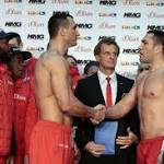 Weights From Hamburg: Klitschko 245.8 , Pulev 246.9