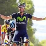 Valverde in Vuelta lead with stage win