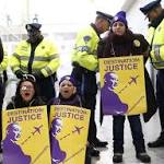 Police: 6 protesters arrested at Logan Airport demonstration
