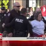 Marchers want higher wages, better working conditions