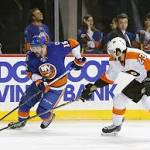 Islanders lose 5-2 to flyers, get Panthers in 1st round