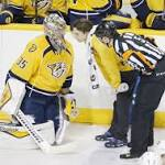 Preds win game, hope they haven't lost goalie Pekka Rinne