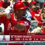 Albert Pujols Hits Milestone Home Run, But Los Angeles Angels Lose 9-2 To ...