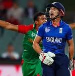 England exit World Cup after Bangladesh humiliation