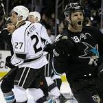 Sharks blow out Kings to cap day light on drama in NHL