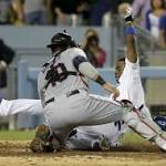 Indians rally with 3 in 8th to beat Dodgers 5-4
