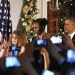 President Obama Speaks At White House Hanukkah Reception