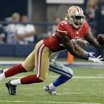 Foot finishes season of 49ers' first-round pick; Smith activated