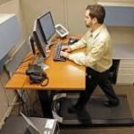 More employees using treadmill desks, standup desks at office
