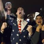 Outside the White House, panic and elation as election takes stunning turn