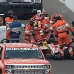 Sebastian Saavedra: 'I was super lucky' in Indy 500 crash