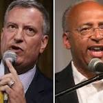 Bill de Blasio, Christine Quinn predict runoff