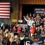 Paul embraces outsider role, calls on 'liberty lovers' in Milford stump speech