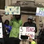 Detroit teachers protest governor's plan to overhaul district