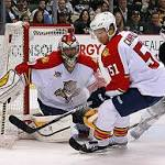 Drew Shore scores twice and goalie Clemmensen sparkles to lead Panthers to 5 ...