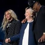 Hillary Clinton sees last-minute surge of support — from some of pop music's biggest stars