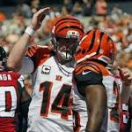 Bengals overcome key injuries to pound Falcons