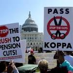 Teamsters rally in Washington to protest possible pension cuts