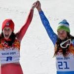 Dominique Gisin, Tina Maza share downhill gold; Americans well behind in ...