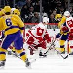 Jonas Gustavsson strong in first start for Red Wings since Nov. 5, but receives no ...