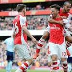 Arsenal continue Premier League win streak, ease past West Ham