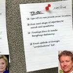 Rand Paul Tweeted A Fake Hillary Clinton To-Do List