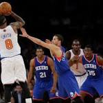 Knicks wake up, put 76ers to bed