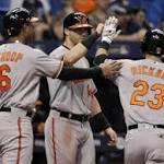 MLB roundup: Orioles top Rays, stop 3-game skid